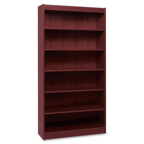 Lorell LLR60075 Panel End Hardwood Veneer Bookcase