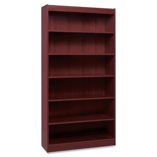 Lorell LLR60075 Panel End Hardwood Veneer Bookcase|https://ak1.ostkcdn.com/images/products/9275760/P16439434.jpg?impolicy=medium