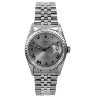 Pre-owned Rolex Men's Datejust Slate Dial Automatic Watch