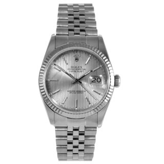 Pre-Owned Rolex Men's Datejust Stainless Steel Fluted Bezel Watch
