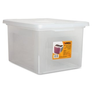 Lorell LLR68925 Letter/ Legal Clear Plastic File Box