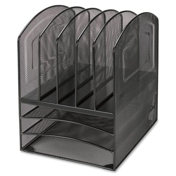 Lorell llr95255 black mesh desktop organizer free - Black mesh desk organizer ...