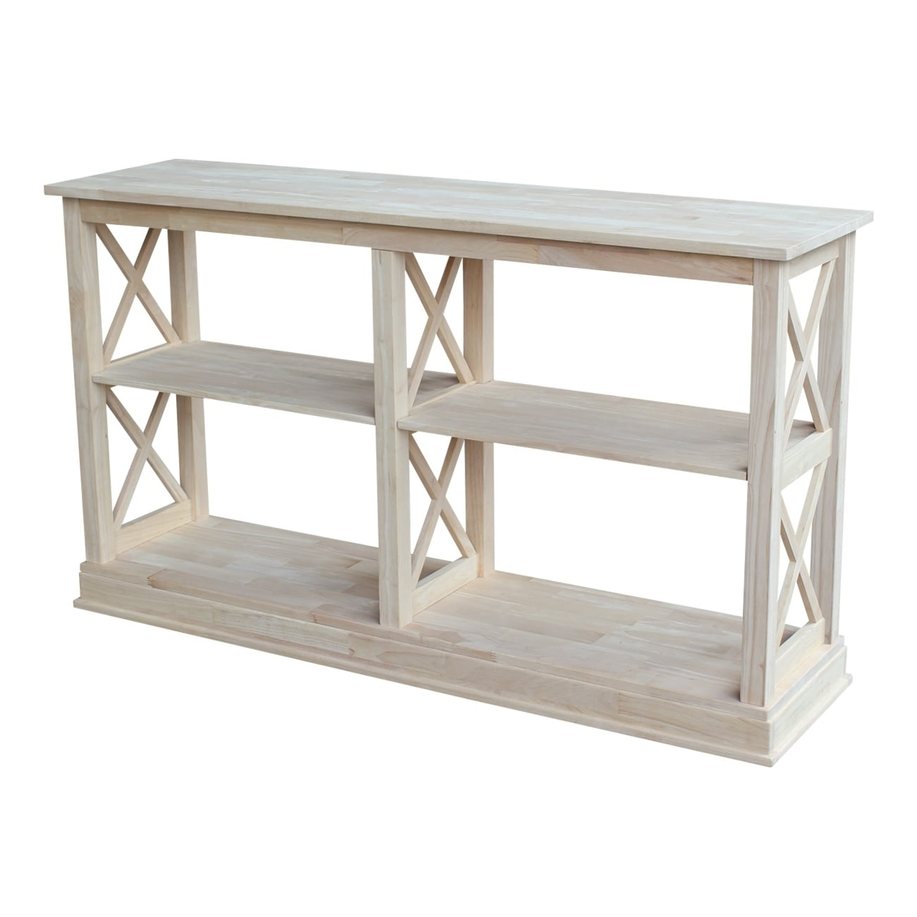 Excellent Hampton Unfinished Solid Parawood Sofa Server Table Creativecarmelina Interior Chair Design Creativecarmelinacom