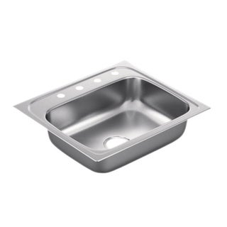 Moen 2200 Series Stainless Steel 22 Gauge Single Bowl Drop In Sink