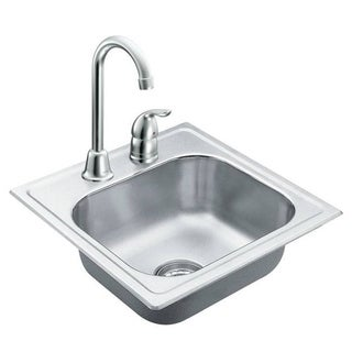 Moen 2000 Series Stainless Steel 20 Gauge Single Bowl Drop In Sink