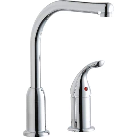Elkay Everyday Kitchen Deck Mount Faucet with Remote Lever Handle Chrome - 2-1/4 x 9-3/4 x 11-1/2