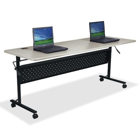 Lorell LLR60672 Silver Flipper Training Table