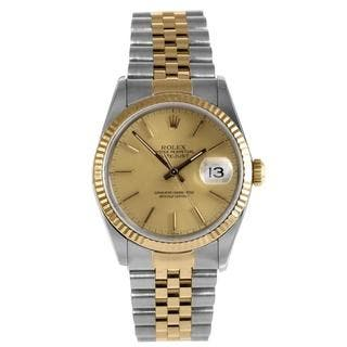 Pre-Owned Rolex Men's Datejust Stainless Steel/ Yellow Gold Watch|https://ak1.ostkcdn.com/images/products/9275805/P16439460.jpg?impolicy=medium