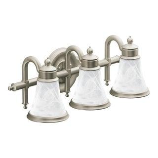 Waterhill 3-globe Brushed Nickel Bath Lighting