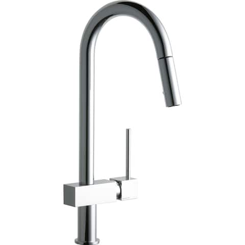 Elkay Avado Single Hole Kitchen Faucet with Pull-down Spray and Lever Handle Chrome