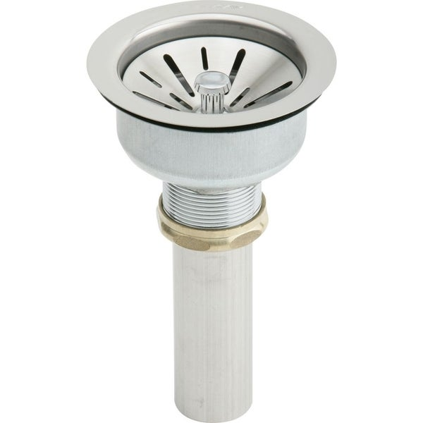 Elkay Stainless Steel 4.5 x 4.5-inch Drain Fitting