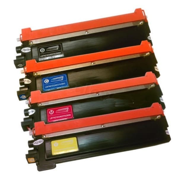 Brother TN225 Remanufactured High Yield Compatible Toner Cartridges (Pack of 4) - Black