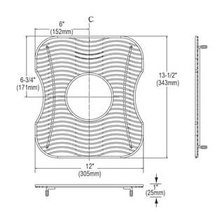 Elkay Wavy Wire Stainless Steel 13.5x13.5-inch Bottom Grid