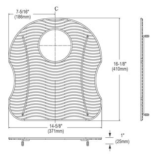 Elkay Wavy Wire Stainless Steel 16.1x4.75-inch Bottom Grid