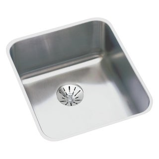 "Elkay Lustertone Stainless Steel 16"" x 18-1/2"" x 7-7/8"", Single Bowl Undermount Sink with Perfect Drain"