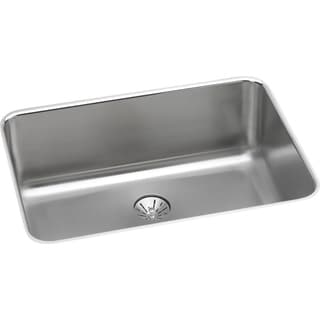 "Elkay Lustertone Stainless Steel 26-1/2"" x 18-1/2"" x 10"", Single Bowl Undermount Sink with Perfect Drain"