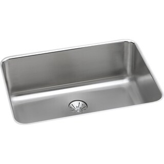 """Elkay Lustertone Stainless Steel 26-1/2"""" x 18-1/2"""" x 10"""", Single Bowl Undermount Sink with Perfect Drain"""