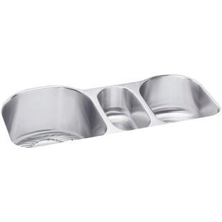 Elkay Harmony (Lustertone) Stainless Steel Triple Bowl Undermount Sink Kit