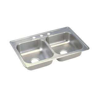 Elkay Dayton Stainless Steel Double Bowl Top Mount Sink