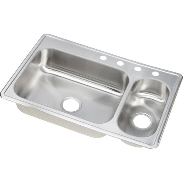 Double Bowl Stainless Steel Sink : Elkay Dayton Elite Stainless Steel Double Bowl Top Mount Sink - Free ...