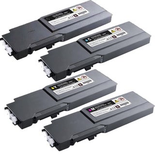 Dell C2660 2665 High Yield Compatible Toner Cartridges (Pack of 4)