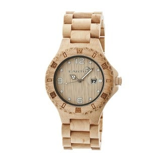 Earth Men's Raywood Khaki/ Tan Wood Analog Watch