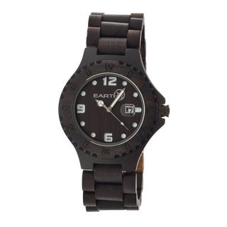 Earth Men's Raywood Dark Brown Wood Analog Watch