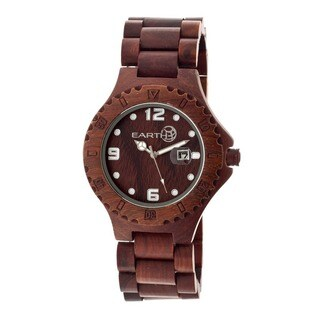 Earth Men's Raywood Red Wood Analog Watch