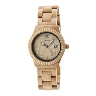 Earth Men's Pith Khaki/ Tan Wood Analog Watch