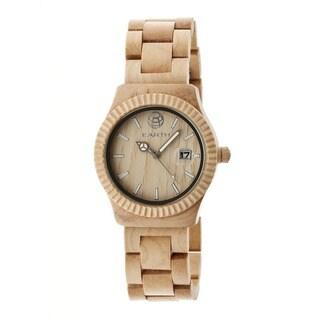 Earth Men's Pith Khaki/ Tan Wood Analog Watch