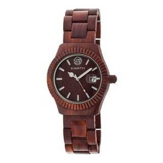 Earth Men's Pith Red Wood Analog Watch