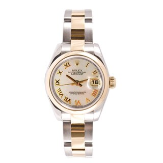 Pre-owned Rolex Women's Datejust Two-tone Mother of Pearl Dial Watch