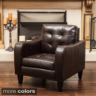 Sorrento Leather Club Chair by Christopher Knight Home