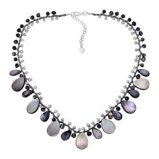 Handmade Teardrop Mother of Pearl Necklace (Thailand)