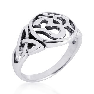 Unique Triquetra Ohm Symbol .925 Sterling Silver Ring (Thailand)