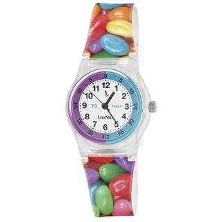 Lily Nily Kids' Plastic and Stainless Steel Jelly Beans Watch