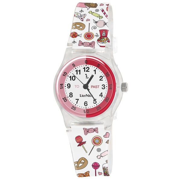 Lily Nily Kids' Plastic and Stainless Steel Assorted Candies Watch