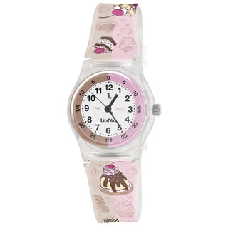 Lily Nily Kids' Plastic Cupcake Stainless Steel Watch|https://ak1.ostkcdn.com/images/products/9276497/P16440160.jpg?impolicy=medium