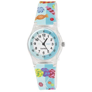 Lily Nily Kids' Plastic Candies Stainless Steel Watch|https://ak1.ostkcdn.com/images/products/9276501/P16440161.jpg?impolicy=medium