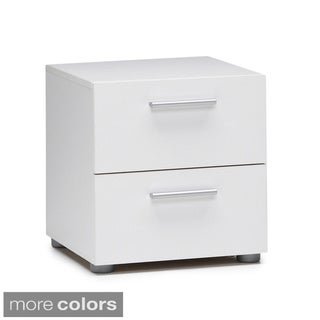 Austin Streamline Foiled 2-drawer Nightstand