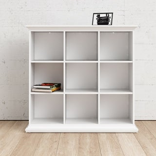 Sonoma White Wood Bookcase