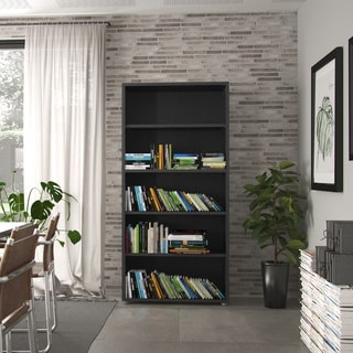 Pierce 4-shelf Sustainable Wood Bookcase