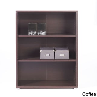 Pierce Two-shelf Contemporary Wood Bookcase