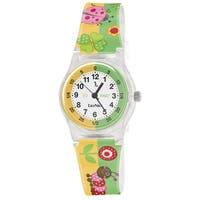 Lily Nily Kids' Plastic and Stainless Steel Flowers Watch