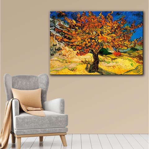 Vincent van Gogh 'Mulberry Tree' Gallery-wrapped Canvas Art