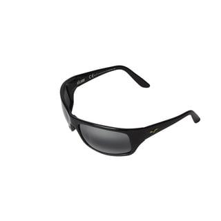 Maui Jim Men's 'Peahi Glass' Gloss Black Polarized Sport Sunglasses