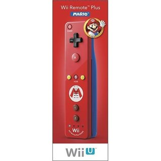 WII REMOTE PLUS MARIO(RED WITH BLUE BACK) -Wii U