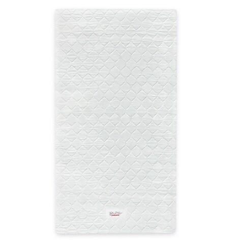 Babyletto Pure Core Non-toxic Mini Crib Mattress with Hybrid Waterproof Cover - White