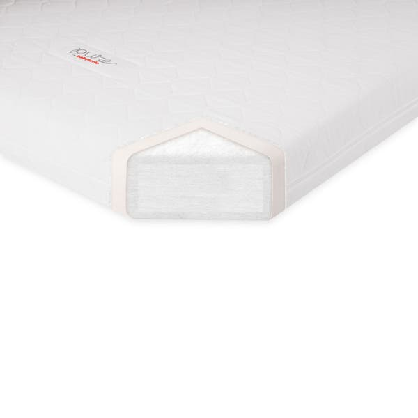 Babyletto Pure Core Non Toxic Mini Crib Mattress W Hybrid Waterproof Cover White Overstock 9277961