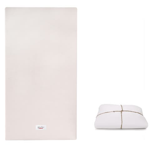 Babyletto Coco Core Non-Toxic Crib Mattress with Dry Waterproof Cover - White